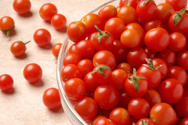 Praca na linii produkcyjnej, pakowanie pomidorów